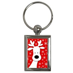 Christmas reindeer - red Key Chains (Rectangle)