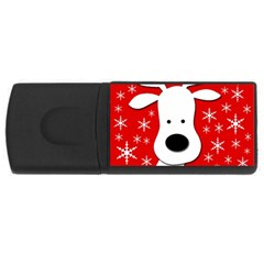 Christmas reindeer - red USB Flash Drive Rectangular (2 GB)