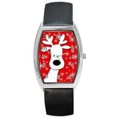 Christmas reindeer - red Barrel Style Metal Watch