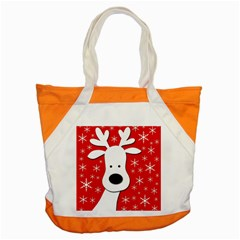 Christmas reindeer - red Accent Tote Bag