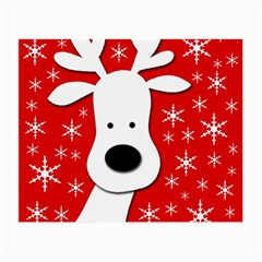 Christmas reindeer - red Small Glasses Cloth (2-Side)