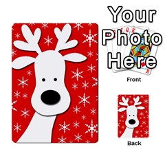 Christmas reindeer - red Multi-purpose Cards (Rectangle)