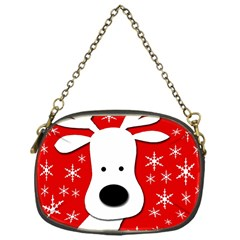 Christmas reindeer - red Chain Purses (One Side)
