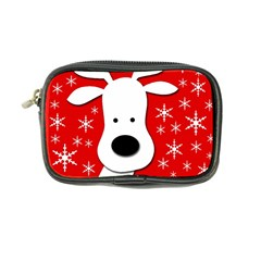 Christmas reindeer - red Coin Purse