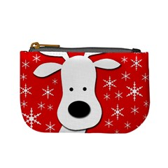 Christmas reindeer - red Mini Coin Purses