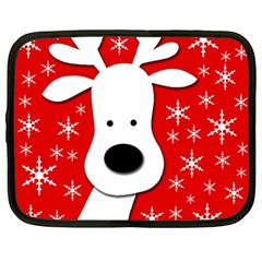 Christmas reindeer - red Netbook Case (XXL)