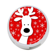 Christmas reindeer - red 4-Port USB Hub (Two Sides)