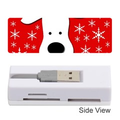 Christmas reindeer - red Memory Card Reader (Stick)