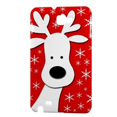 Christmas reindeer - red Samsung Galaxy Note 1 Hardshell Case