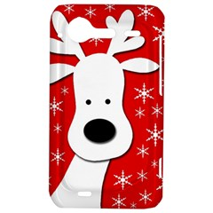 Christmas reindeer - red HTC Incredible S Hardshell Case