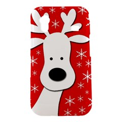 Christmas reindeer - red Samsung Galaxy Ace S5830 Hardshell Case