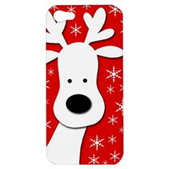 Christmas reindeer - red Apple iPhone 5 Hardshell Case