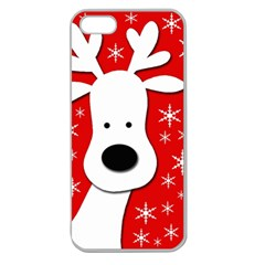 Christmas reindeer - red Apple Seamless iPhone 5 Case (Clear)