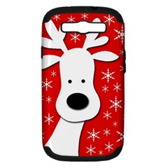 Christmas reindeer - red Samsung Galaxy S III Hardshell Case (PC+Silicone)