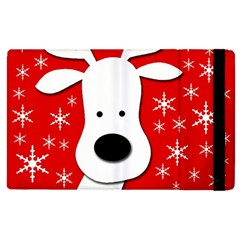 Christmas reindeer - red Apple iPad 2 Flip Case