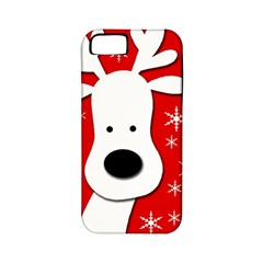 Christmas reindeer - red Apple iPhone 5 Classic Hardshell Case (PC+Silicone)