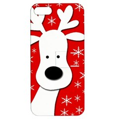 Christmas reindeer - red Apple iPhone 5 Hardshell Case with Stand