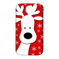 Christmas reindeer - red Samsung Galaxy S4 Classic Hardshell Case (PC+Silicone)