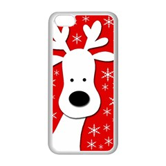 Christmas reindeer - red Apple iPhone 5C Seamless Case (White)