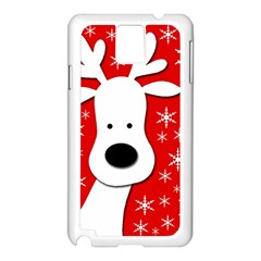 Christmas reindeer - red Samsung Galaxy Note 3 N9005 Case (White)
