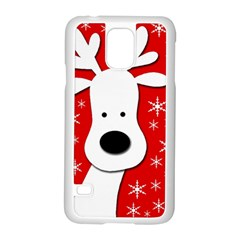 Christmas reindeer - red Samsung Galaxy S5 Case (White)