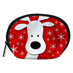 Christmas reindeer - red Accessory Pouches (Medium)
