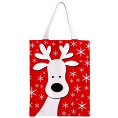 Christmas reindeer - red Classic Light Tote Bag