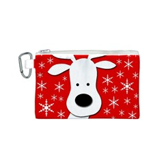 Christmas reindeer - red Canvas Cosmetic Bag (S)