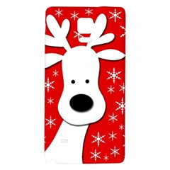 Christmas reindeer - red Galaxy Note 4 Back Case