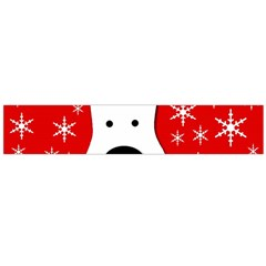 Christmas reindeer - red Flano Scarf (Large)