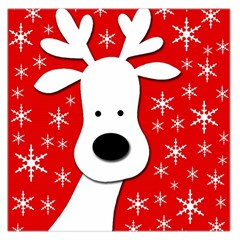 Christmas reindeer - red Large Satin Scarf (Square)