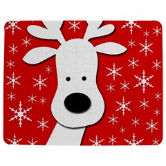 Christmas Reindeer   Red Jigsaw Puzzle Photo Stand (rectangular)