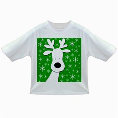 Christmas reindeer - green Infant/Toddler T-Shirts