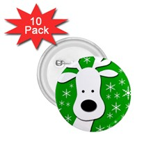 Christmas reindeer - green 1.75  Buttons (10 pack)
