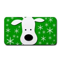 Christmas reindeer - green Medium Bar Mats