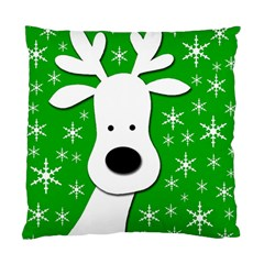Christmas reindeer - green Standard Cushion Case (Two Sides)
