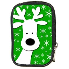 Christmas reindeer - green Compact Camera Cases