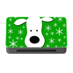Christmas reindeer - green Memory Card Reader with CF