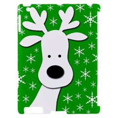 Christmas reindeer - green Apple iPad 2 Hardshell Case (Compatible with Smart Cover)