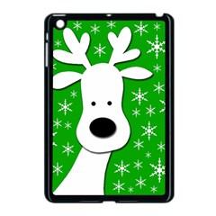 Christmas reindeer - green Apple iPad Mini Case (Black)