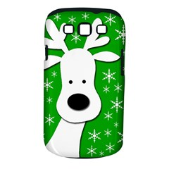 Christmas reindeer - green Samsung Galaxy S III Classic Hardshell Case (PC+Silicone)