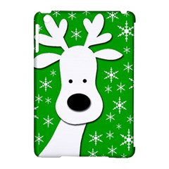 Christmas reindeer - green Apple iPad Mini Hardshell Case (Compatible with Smart Cover)