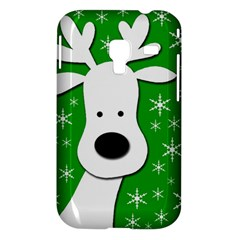 Christmas reindeer - green Samsung Galaxy Ace Plus S7500 Hardshell Case