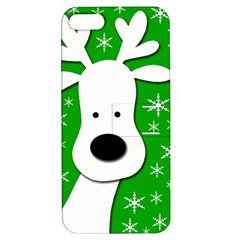 Christmas reindeer - green Apple iPhone 5 Hardshell Case with Stand