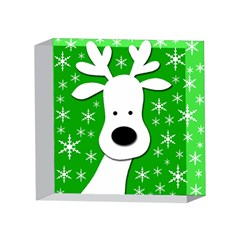 Christmas reindeer - green 4 x 4  Acrylic Photo Blocks