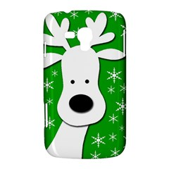 Christmas reindeer - green Samsung Galaxy Duos I8262 Hardshell Case