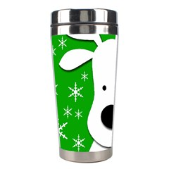 Christmas reindeer - green Stainless Steel Travel Tumblers