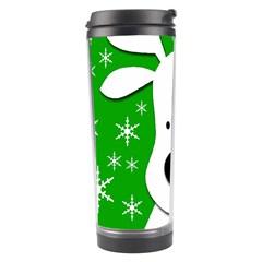 Christmas reindeer - green Travel Tumbler