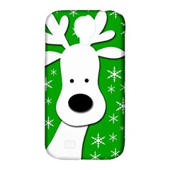 Christmas reindeer - green Samsung Galaxy S4 Classic Hardshell Case (PC+Silicone)