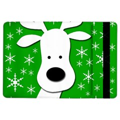 Christmas reindeer - green iPad Air 2 Flip